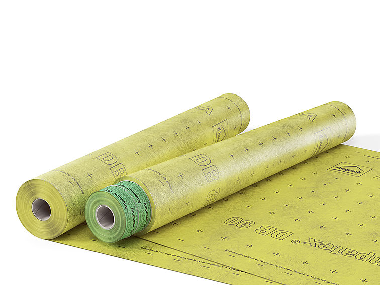 Product photo: Ampatex DB 90 , vapour check and airtight layer, with Ampacoll INT