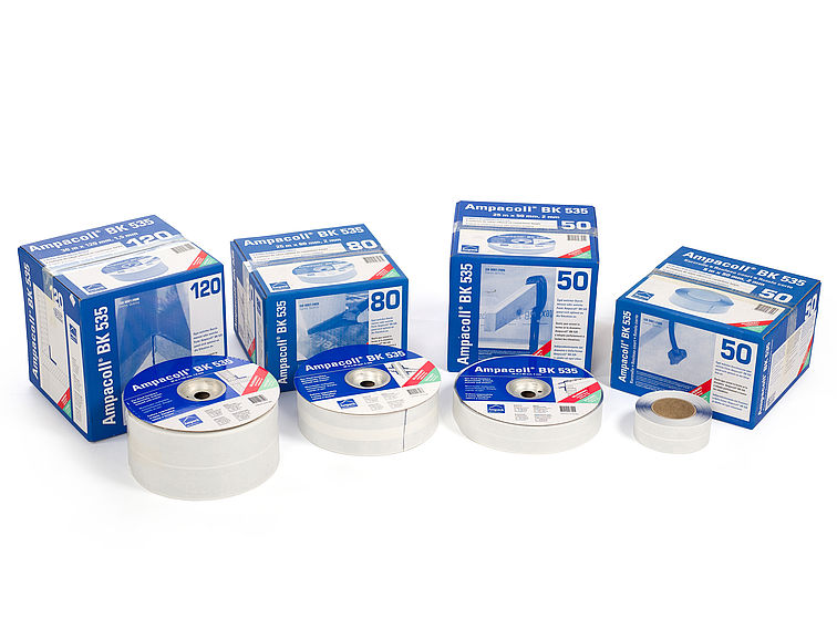 Product photo: Ampacoll BK 535, butyl rubber adhesive tape